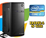 PC DESKTOP FISSO Intel i7-7700 / RAM 8GB DDR4 / HD 1TB / MASTERIZZATORE LG / LICENZA WINDOWS 10 / WI-FI