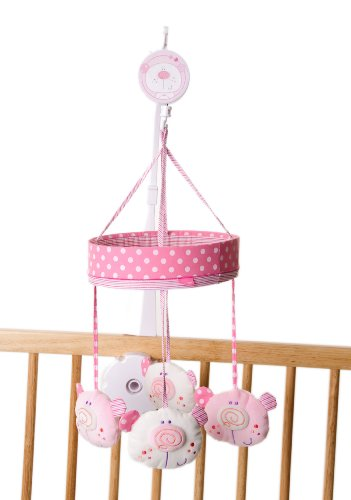 Red Kite-Caja de música funda para (rosa oso)