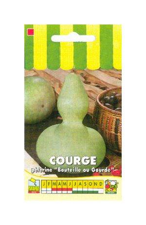 Les Graines Bocquet - Graines De Courge Décorative Pèlerine (Bouteille Pèlerine) - Graines Potagères À Semer - Sachet De 3Grammes