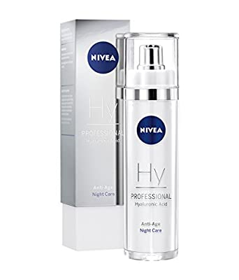 NIVEA PROFESSIONAL Hyaluronic Acid Night Care (1 x 50ml), Highly Effective Hyaluron Anti-Ageing Cream for Face, Firming Night Cream, Innovative Anti-Wrinkle Care, Exclusive Anti-Wrinkle Moisturiser