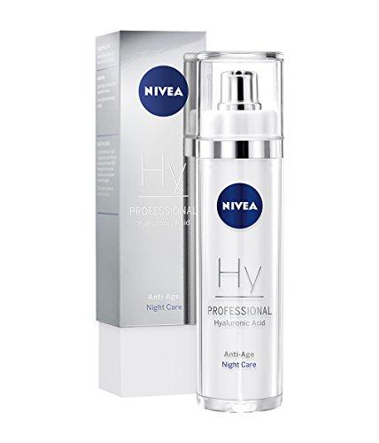 NIVEA PROFESSIONAL Hyaluronsäure Nachtpflege, hochwirksame Hyaluron Anti-Aging Nachtcreme für Gesicht, straffende, innovative Pflege gegen Falten, exklusive Anti-Falten Feuchtigkeitspflege,1 x 50 ml