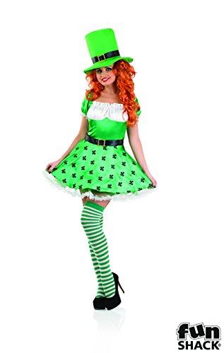 Das Für Kobold Erwachsene Kostüm - The Good Life Damen Erwachsene Spaß Shack Leprechaun Kobold Kostüm Kleidung Größe 44-46
