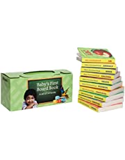 Amazon Brand - Solimo Board Books for Kids (Set of 10) Hardcover – 2018