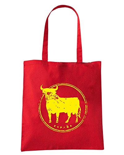 T-Shirtshock - Borsa Shopping WC0564 SPAIN T-SHIRT ESPANA ICON Rosso