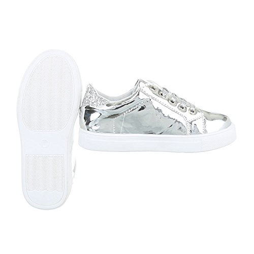 Ital-Design - Low-top Bambina Silber ABO-17
