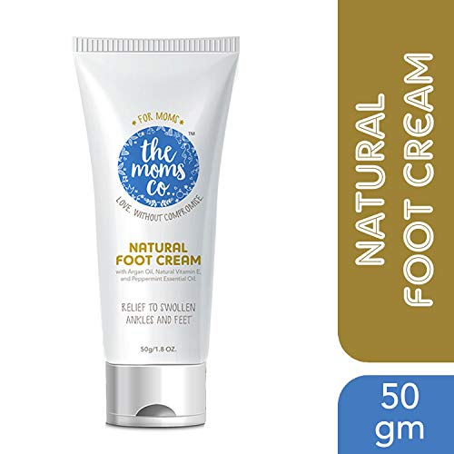 The Moms Co. Natural Cooling Foot Cream, (50 G)