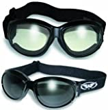 Best Global Vision Eyewear Night Vision Goggles - 2 Eliminator Motorcycle Goggles Clear and Smoke Tinted Review