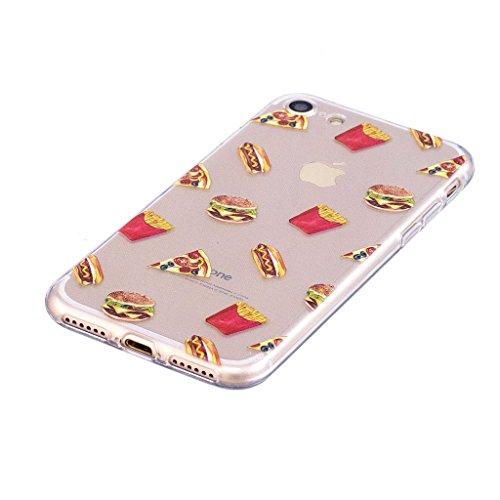 Custodia per Apple iPhone 7 ,JIENI Cover Trasparente Famiglia del Cactus TPU Silicone Morbido Sottile Protettivo Bumper Protettiva Case per Apple iPhone 7 LF2