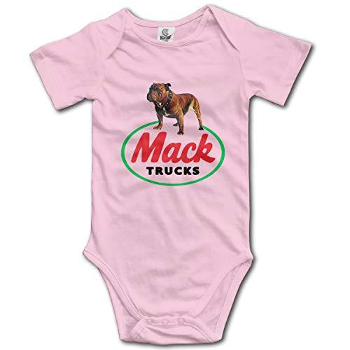 Organic Infant Creeper (Abigails Home Die alte Bulldogge Logo Mack Trucks Neugeborenen Kinder Baby Strampler Kurzarm Kleinkind Overall (6M, Pink))
