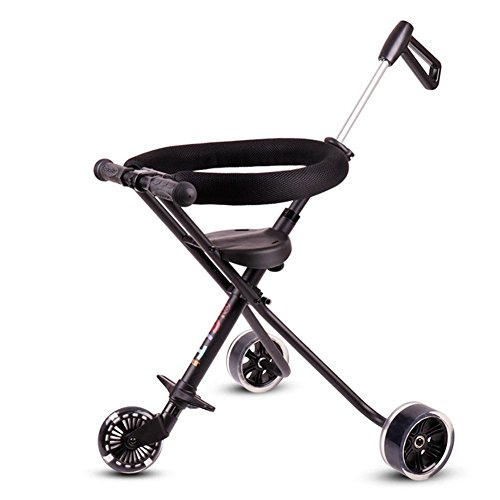 Folding Aluminium Trolley Children's Buggy Outdoor Reisen Smooth Baby Carrier , black , 52 cm