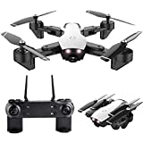 Smart Follow Quadcopter Flux Optique Altitude Hold WiFi Caméra Drone(5MP White)