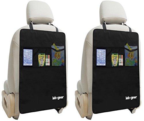 Kick Tappetino auto sedile posteriore pellicole + tasche organizer da Lebogner-Luxury coprisedili per il retro (Sedile Anteriore Del Passeggero)
