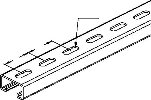 Preisvergleich Produktbild Niedax Ankerschiene 2991/3 FL Stiel/Profilschiene 4013339193202