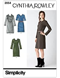 Simplicity H5 6-8-10-12-14 Sewing Pattern 2054 Misses Dresses Cynthia Rowley Collection