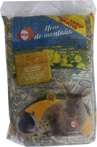 Heno de montaña con Diente de león para roedores DAPAC 500 + 200 gr gratis