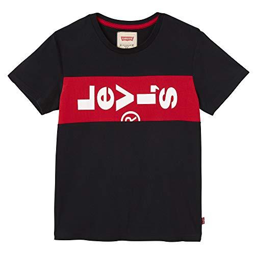 Levi's Kids Jungen Nn10007 02 Short Sleeve Tee T-Shirt, Schwarz (Black, 12 Jahre (Herstellergröße: 12Y) - Jungen Red Tab