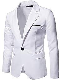 Amazon.es  Blanco - Trajes y blazers   Hombre  Ropa abba2cbe135