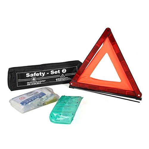 Pannenset Notfall Erste Hilfe Set Warndreieck Verbandsmaterial (MDH 09.2022)