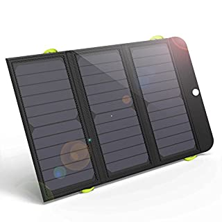 Solar Charger, ALLPOWERS 21W Solar Charger with 6000mAh Battery, 3 USB Ports(USB-C and USB-A) SunPower Solar Panel Power Bank for iPhone 7 6s 6 Plus, iPad Air mini, Samsung