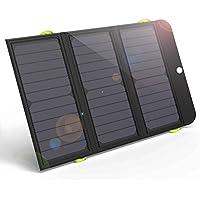 ALLPOWERS 21W Solar Ladegerät mit 6000mAh Akku, 3 USB Ports (USB-C und USB-A) SunPower Solar Power Bank für iPhone 7 6s 6 Plus, iPad Air mini, Samsung