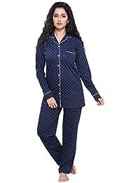 Boring Dress Hosiery (Cotton Knitted) Women's Shirt and Pajama Set/Night Suit/Nighty/Lounge wear/Nightwear/Night Dress