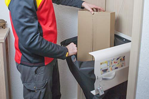 meinPAKETSACK - die sichere Paketstation für Zuhause, Paketbox für alle Paketdienste zur Annahme von Paketen in Miet- und Eigentumswohnungen, universelle Montage & platzsparend (Basic) - 7