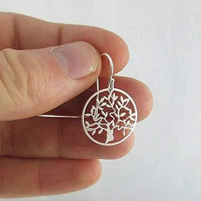 Boucles d'oreilles argent arbre de vie