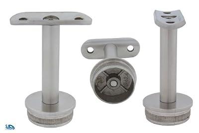 Handlaufstütze starr - 42,4/2,0 mm - Kappe flach - V2A für Rohr von Edelstahldiscounter - Du und dein Garten