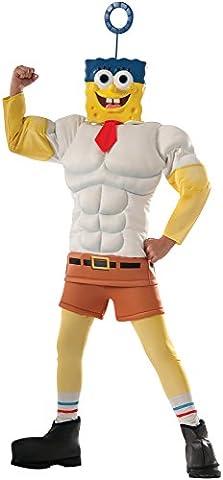 Spongebob Square Pants Movie Sponge Bob Muscle Chest Child Kostüm (Square Pants Kostüm)