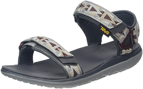 Teva Herren Terra-Float Universal Sandalen, Grau (Mosaic Grey/Chocolate-Mgchmosaic Grey/Chocolate-Mgch), 42 EU