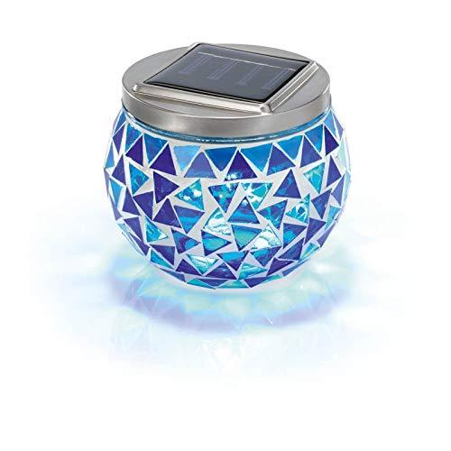 "Esotec Solar Mosaikleuchte""Brilliant"", blau 102320"