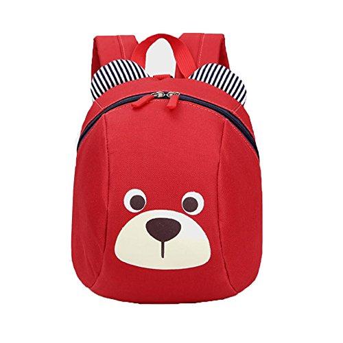 Comfysail Mignon Motif Animé de Lapin sacs à dos bébé Sac à dos Maternelle Enfant Sac d'école pour Enfant Bébé Fille (Rouge)