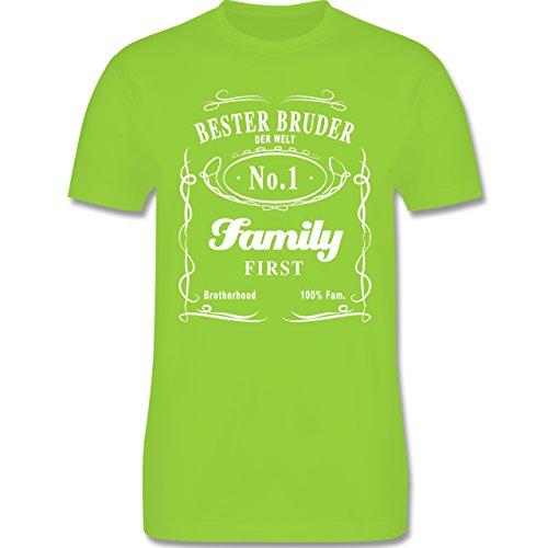 Bruder & Onkel - Bester Bruder Lettering - Herren Premium T-Shirt Hellgrün