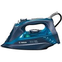 Bosch TDA703021A - Plancha de vapor, vapor constante: 50 g/min, supervapor: 200 g/min, 3AntiCalc, suela cerámica, 3000 W, color azul