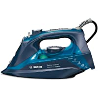 Bosch TDA703021A, Plancha de Vapor, 3000W, Vapor Constante 50 g/min, Cerámica, Color Azul