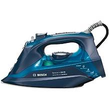 Bosch TDA703021A - Plancha de vapor, 3000 W, super vapor 200 g, triple tecnología antical, color azul