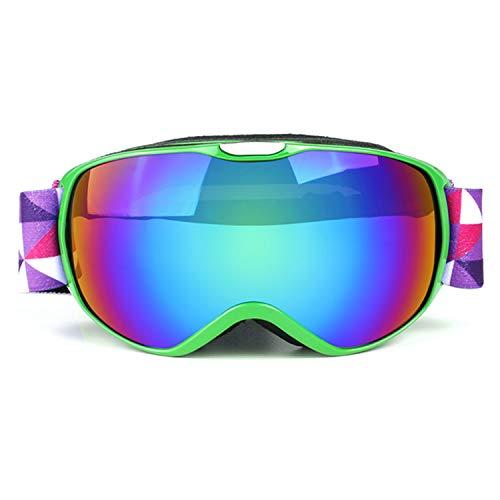Sporzin Skibrille Kinder Anti-Nebe Skibrille Verspiegelt und Ski Goggles 100{a376e41b7689c74279fcdd7fb8bfe6b01656b77bc66606c50306f2b6408900bb} UV400 Schutz-Snowboard Brille für Jungen Mädchen 3-16 Jahre Wintersportarten