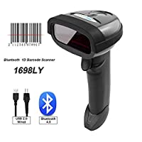 ‏‪NT-2015LY Bluetooth Barcode Scanner Handheld USB Wireless 1D Codes Imager for Mobile Payment Computer Screen Scan Support iOS & Android‬‏