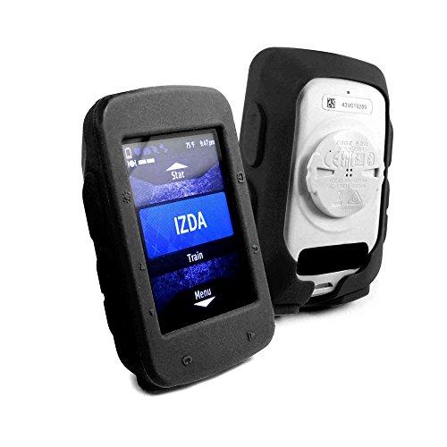 Tuff-Luv Housse étui en silicone pour Garmin Edge 520 - Noir