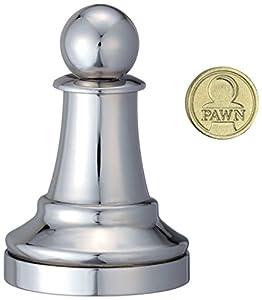 Eureka 473681 Pawn Cast - Juego de ajedrez, Color Plateado