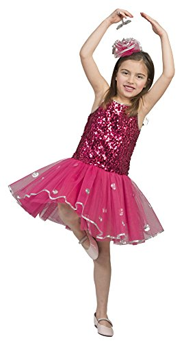 Kostüm Seiltänzerin Kinder - Ballerina Kinder Kostüm mit Pailletten -