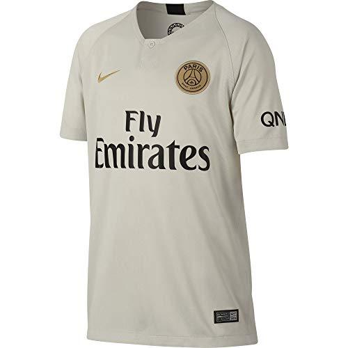 Nike PSG Y NK BRT STAD JSY SS AW Camiseta 2ª Equipación Paris Saint Germain, Unisex niños, (Light Bone/Truly Gold), S