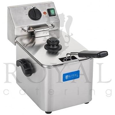 Royal Catering - RCEF 08E-EGO - Friteuse électrique de 8 litres - 230 V - 2500 W - Thermostat E.G.O - Frais d'envoi inclus par Royal Catering