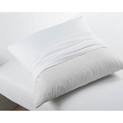 VITA PERFETTA Protège Oreiller Molleton - Respirant, Coton Blanc (60 x 60 cm)