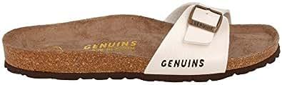 Genuins Sandale Londres Schwarz Bioflor Schmal Damen