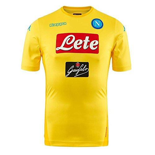 2017/18 SSC Napoli Stadium away jersey Yellow 17/18 Naples Kappa S Yellow