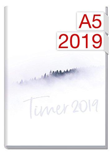 Chäff-Timer Classic A5 Kalender 2019 [Weißer Wald] 12 Monate Jan-Dez 2019 - Terminkalender mit Wochenplaner - Organizer - Wochenkalender