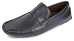 Spunk Mens Navy Blue Synthetic Loafers - 9 UK