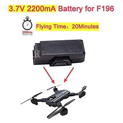 Ocamo 3.7V 2200mA Lipo Battery for F196 RC Foldable Drone Quadcopter with 20mins Long Flying Time Optical Flow Camera HD Dron Spare Parts