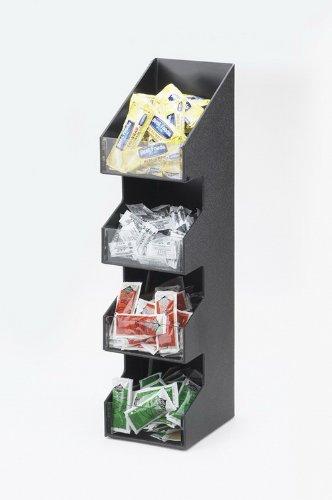 calmil 1423Klassische Kaffee Speisewürze Display, 17,1cm Länge x 13,3cm Breite x 53,3cm Höhe, schwarz
